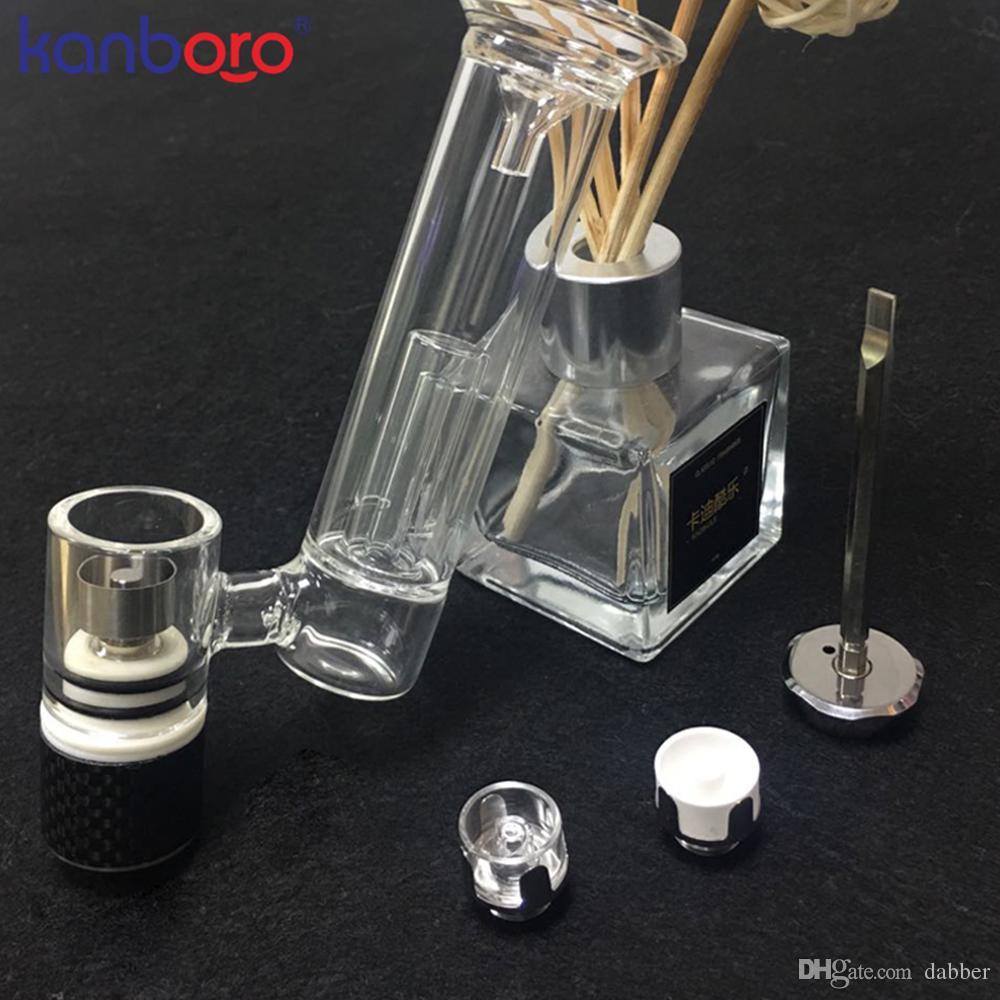 KanboroTech balmumu vape kuru ot buharlaştırıcı için Kanboro Tırnak V3 balmumu tankı Kuvars Seramik Titanyum Isıtma Bobin balmumu atomizörler