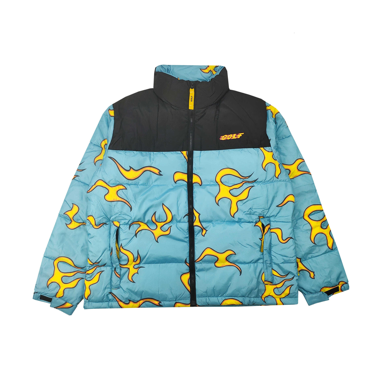 2020 New Luxury Men Golf Wang Flower Le Fleur Tyler The Creator Blue Flame Coats Jackets Down Coats Cotton Warm Winter M38 Sh190929 From Yiwang01 69 54 Dhgate Com