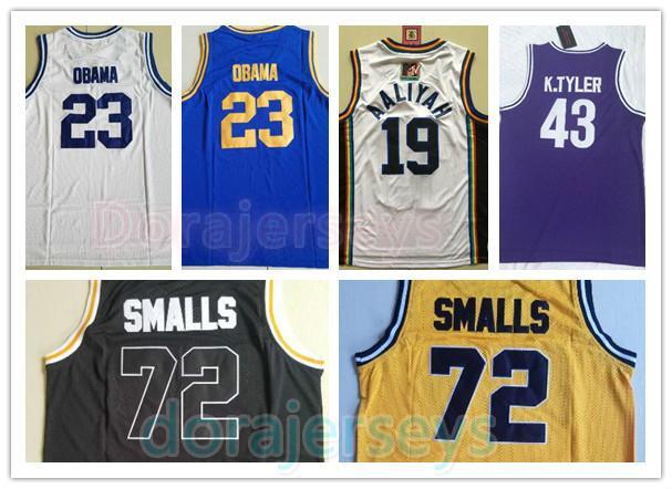 Bad Boy Notorious Big 72 Biggie Smalls Trikot Punahou 23 Barack Obama Basketball-Trikots Marlon Wayans 43 Kenny Tyler Maurer 19 Aaliyah