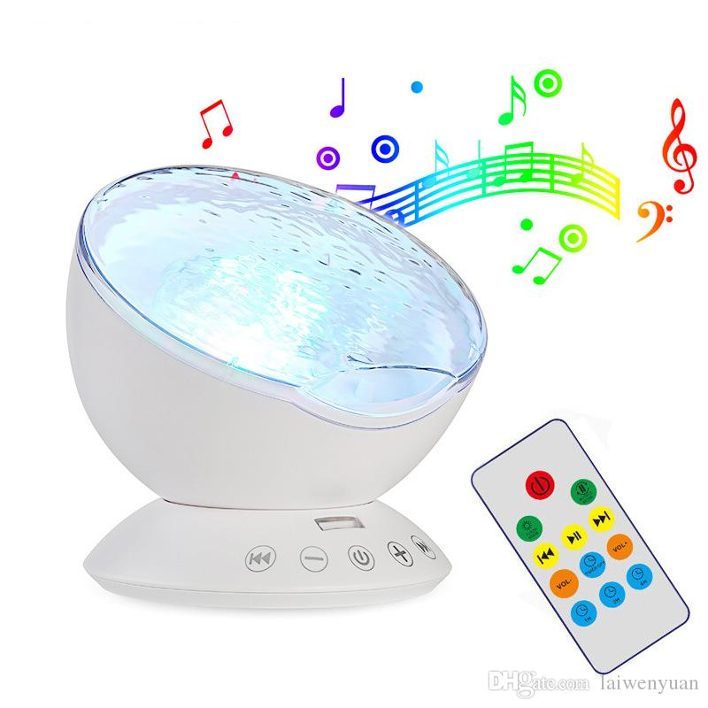Ocean projection starry sky remote control projection lamp colorful usb music wave creative table lamp night light