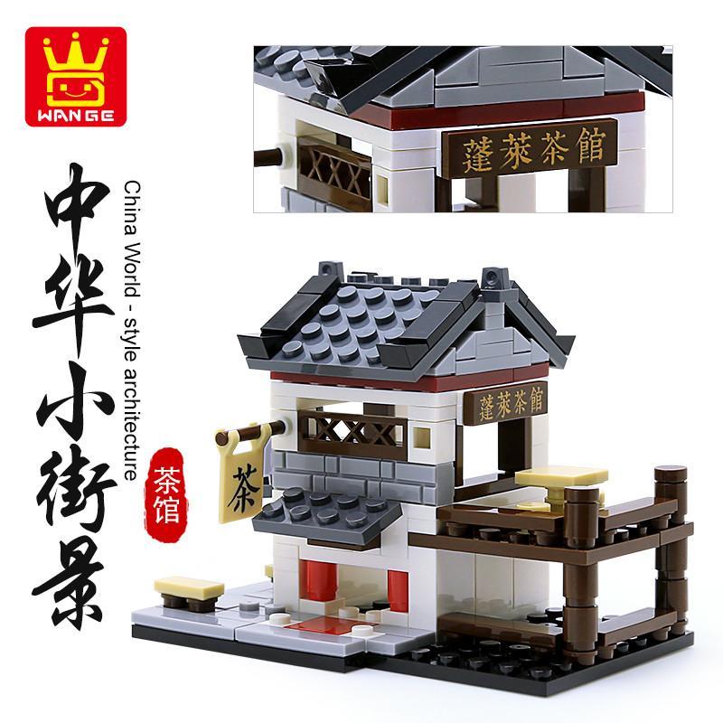 Блоки стиль Streetscape Intelligence частицы игрушки игрушки для украшения Мини Китай Новые дети Сборка маленького здания строительные блоки LOFM