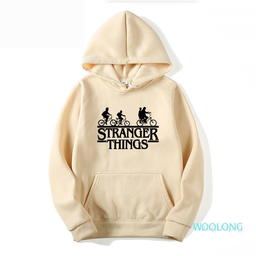Hommes Femmes Hoodies 2020 New-Stranger Things manches longues Sweat-shirts Casual Automne Hiver Hommes Femmes Vêtements perdre sa féminité Hauts coton Cavaliers R