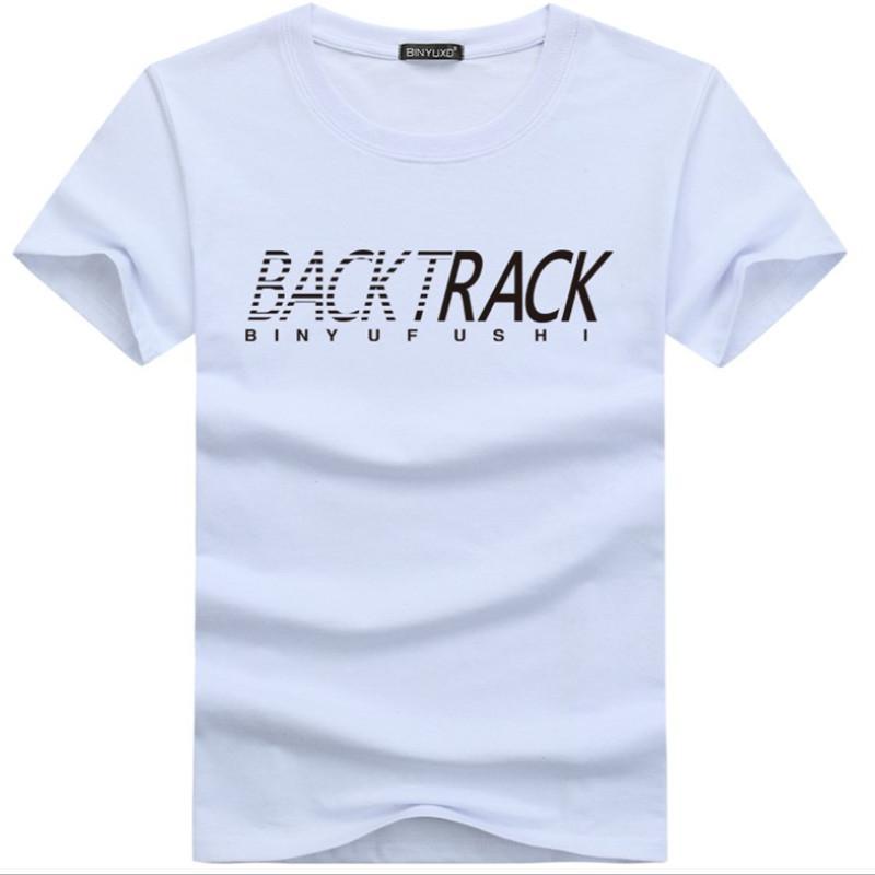 BackTrack Boyutu T Shirt Pamuk Erkek Basit Ince T-shirt Kalça Boyun Yaz Baskı Moda Erkekler Sokak Giyim Mürettebat Casual Fit Tee Tshirt Hop 5x Xroo