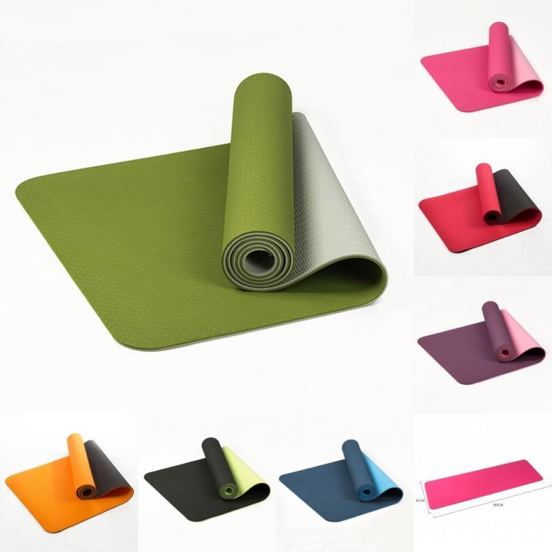 6 мм нескользящие коврики для йоги безвкусные пилатес тренажерный зал упражнения Спорт гостиная колодки для фитнеса бодибилдинг тренировки одеяло крытый ковер ковры