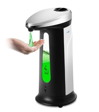 2020 sensor inteligente nuevo 400Ml automático de líquidos dispensador de jabón Touchless ABS electrochapada desinfectante Dispensador para Cocina Baño