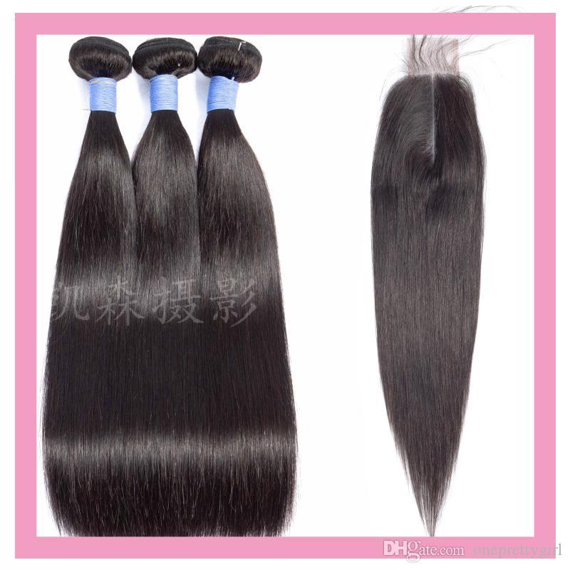 بيرو الشعر البشري 3 حزم مع 2x6 إغلاق الدانتيل مستقيم عذراء الشعر الملحقات 8-28 بوصة حزم مستقيمة مع 2 حسب 6 إغلاق