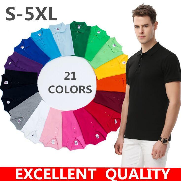 2020 camisa de los nuevos hombres de Verano Casual Polo para hombre delgado de manga corta camisas de marca bordado de la ropa del muchacho negro camisas de polos de los hombres de la S-5XL