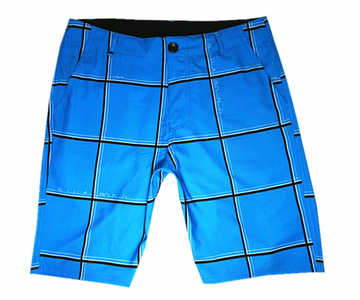 High Quality Elastic Fabric Leisure Shorts Mens Quick Dry Surf Pants Swimming Trunks Loose Swim Trunks Swimwear Bermudas Shorts Board Shorts