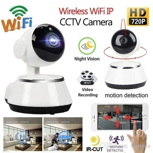 WIFI 똑똑한 가정 IP 사진기 V380 안전 1mp Onvif 회전 Camaras De Seguridad 무선 Camara