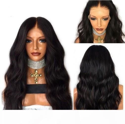 Profunda parte dianteira do laço peruca Natural onda ondulado completa Lace Humana peruca de cabelo brasileiro do cabelo Virgin 150% Densidade Pré arrancou Hairline encalhada Knots