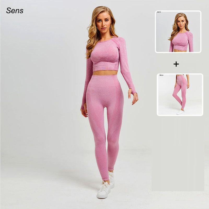 Горячие продажи костюм леггинсы ropa deportiva mujer спортивные брюки тренажерный зал одежда женщины йога комплект Y200413