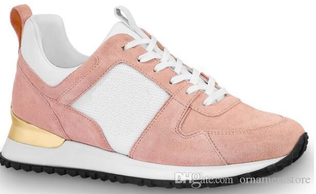 2019 slae quente de qualidade superior dos homens das mulheres brancas-de-rosa de couro ouro casuais os sapatos de corrida sapatos tamanho 35-44 com caixa