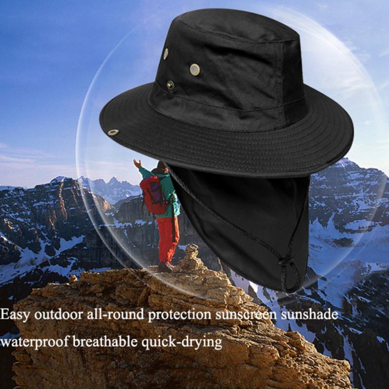Al aire libre del alpinismo de la pesca protección de la visera del sombrero del verano del sombrero del sol tapa de cubo de moda hatsbucket sombreros de verano