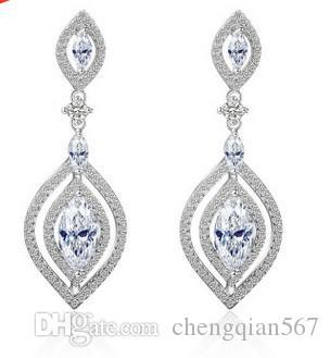 멋진 925 실버 다이아몬드 크리스탈 여성의 earigns (19.31) dfdfd