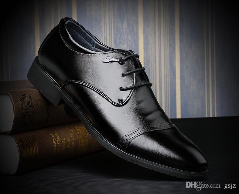 Scarpe da uomo eleganti di lusso classico oxford scarpe in pelle di mucca nero punta a punta lace up scarpe da uomo formale scarpe da festa Z146