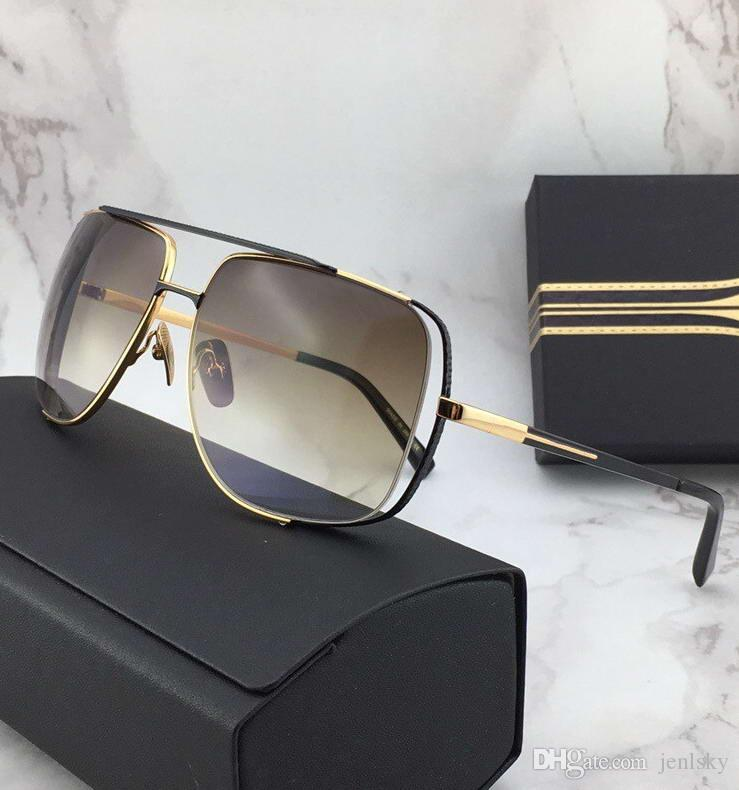 Midnight Men Óculos especiais de ouro / tons de castanho Sonnenbrille Vintage Driving Sun Glasses Moda óculos New in Box