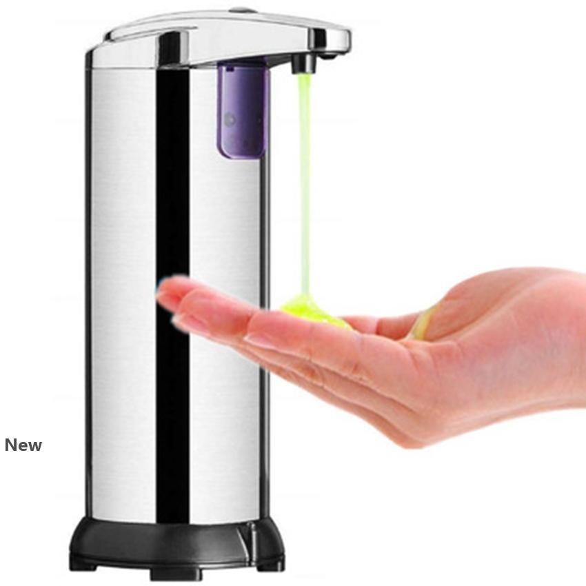 250ML sensor automático dispensador de jabón Dispensadores de jabón líquido portátil de acero inoxidable del sensor infrarrojo dispensador de jabón ZZA2277 50Pcs