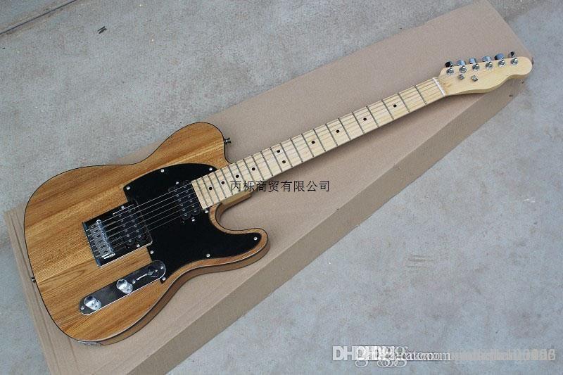 الشحن مجانا 2014 جديد الخشب الرماد جسم صلب القيثارات OEM الغيتار الكهربائي في الأوراق المالية