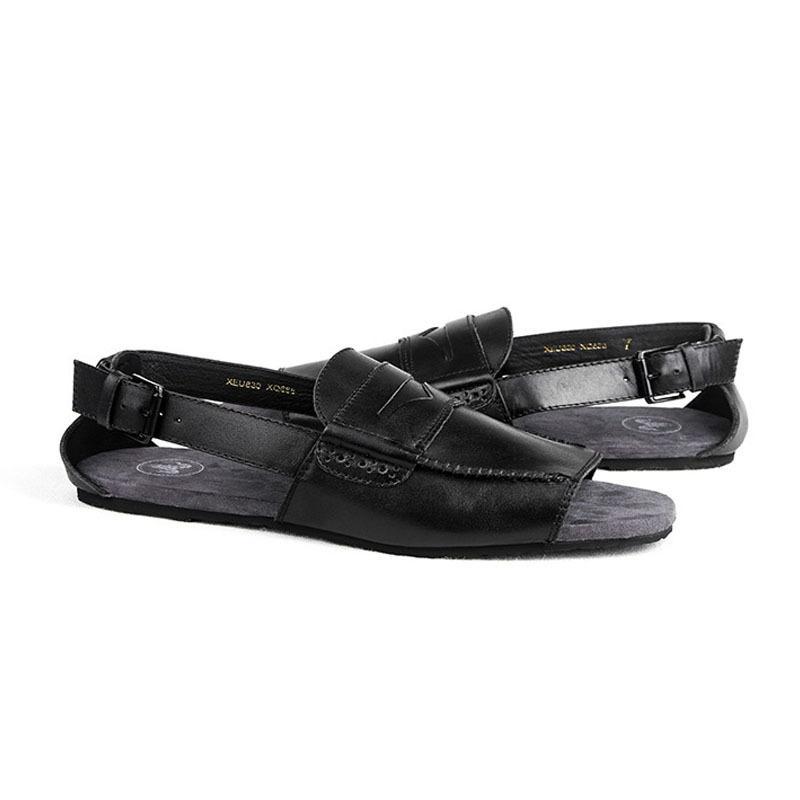 Europäischen Stil Herren Sandale Hochwertigem Leder Atmungs Dias Mode Schnalle Retro Gladiator Sandalen Sommer Strand Schuhe Männlichen
