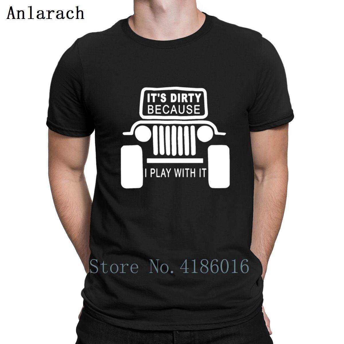 Dirty Play I With It Jeeps T-shirts naturel Hiphop loisirs T-shirt pour les hommes du printemps nouveau style tricot ronde shirt col