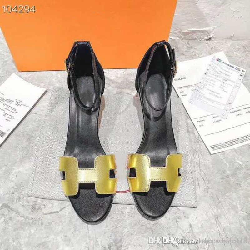 Klassisch Frauen 6cm High Heels Sandalen, Leder und Wildleder Knöchelriemen-Sandalen für Hochzeit Größe 35-40