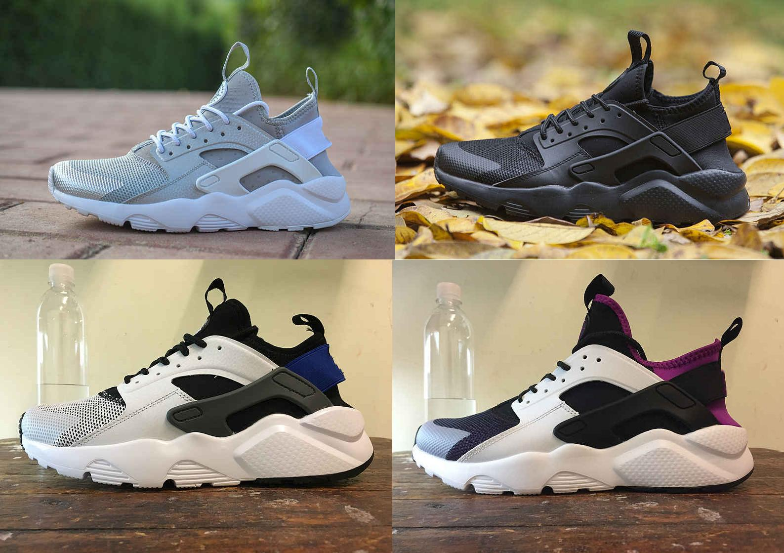 HOT VENTE CHEAP maille Huarache Run respirabilité Ultra ultra-léger des femmes des hommes chaussures de course Chaussures à Waling extérieur 36-45