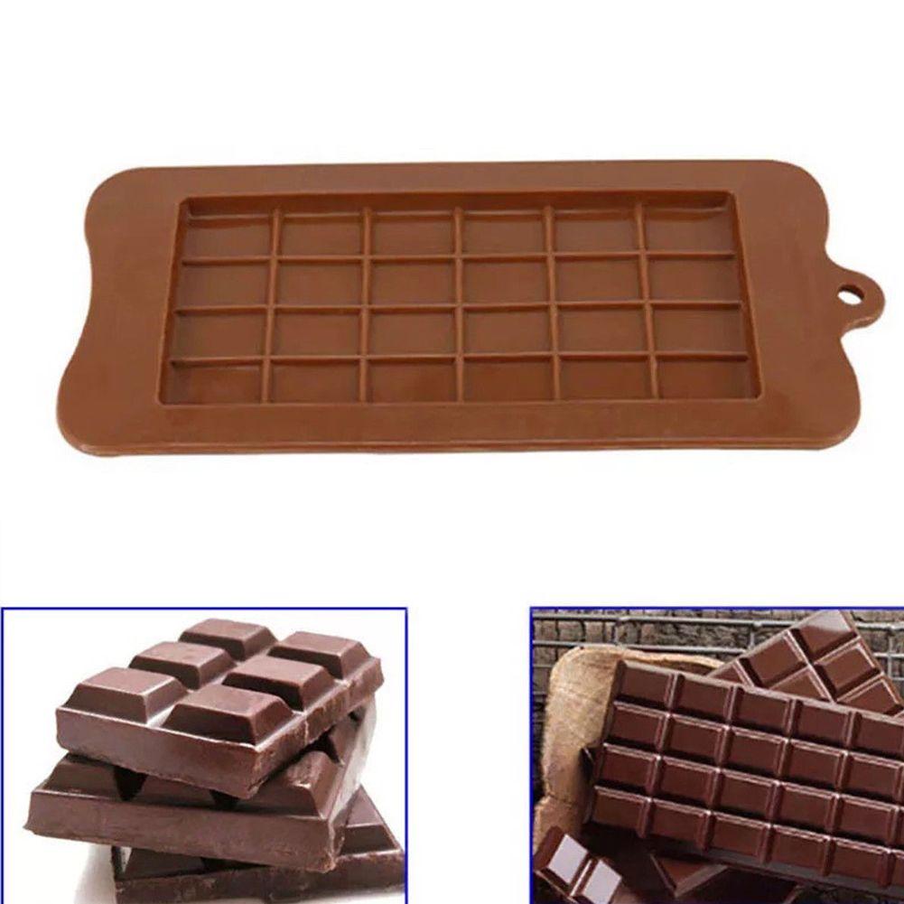 2PCS-24 Grid Square Chocolate Bar Block Ice Silicone Cake Candy Sugar Bake Mould