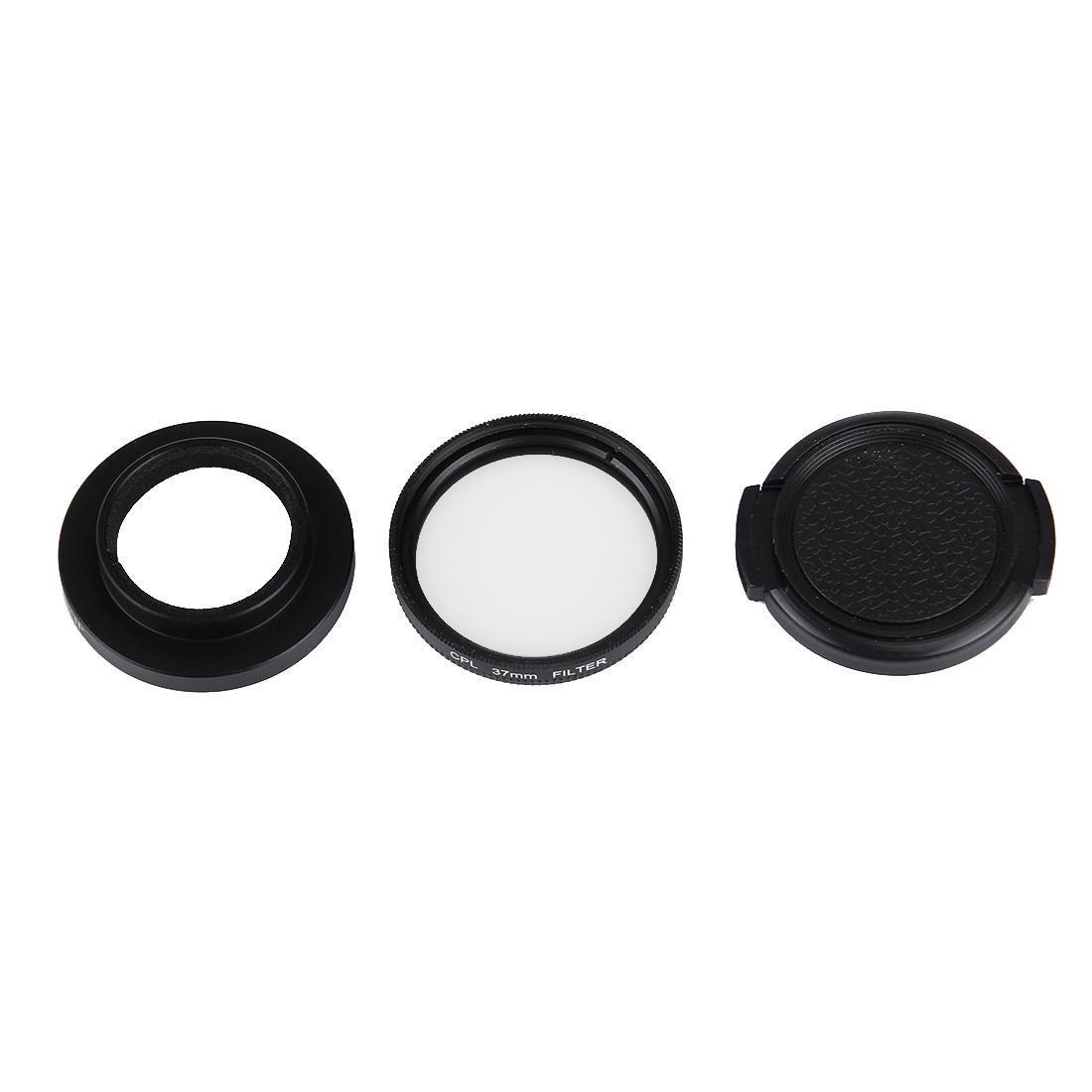 LAILINSHENG Camera Accessories JUNESTAR for Xiaomi Xiaoyi Yi II 4K Sport Action Camera Proffesional 37mm CPL Filter Lens Protective Cap