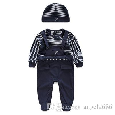 Haute qualité New barboteuses mignon bébé salopette des vêtements confortables pour les nouveaux bébés nés 0-24 m bébé porter des vêtements de bébé nouveau-né