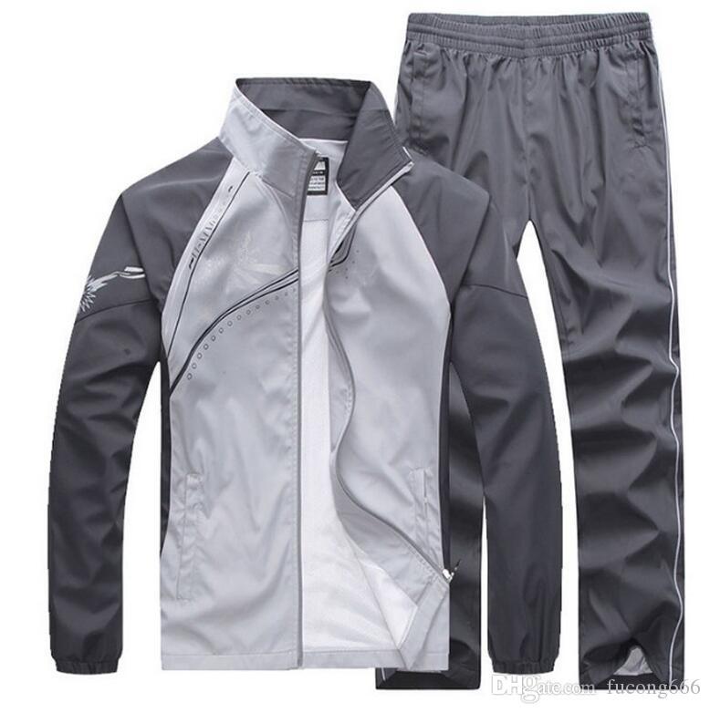 Die Sportkleidung der freien Verschiffenart und weisemänner, die Sportbekleidungjacke jacke + pants Männer Hoodie und Sweatshirt-Jackenanzug näht