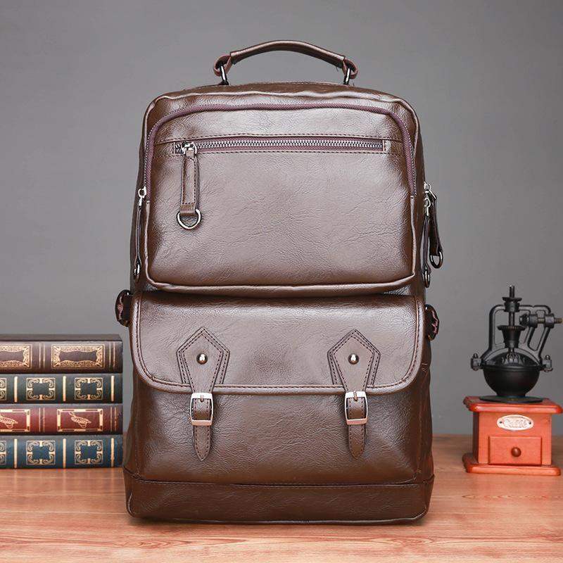 الذكور على ظهره رجل الأعمال والجلود حقيبة سفر قدرة كبيرة على ظهره الظهر كبير السفر التسوق المحمول bagMale على ظهره رجل جلد ساعة