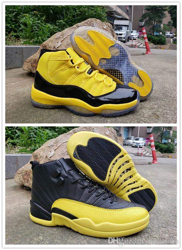 Neue Männer Basketballschuhe 11 12 Gelbe Hummel-Space-Jam-Trainer Sport Sneaker Jumpman RS-X Umwandelt 11s Mens Athletic Schuhe