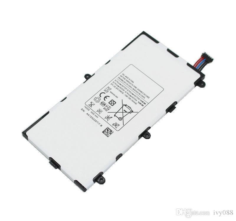 5 قطعة / الوحدة 4000 مللي أمبير T4000E Replacementl البطارية لسامسونج غالاكسي تبويب 3 7.0 t210 t211 t215 t210r t217a t2105 gt P3210 P3200 اللوحي