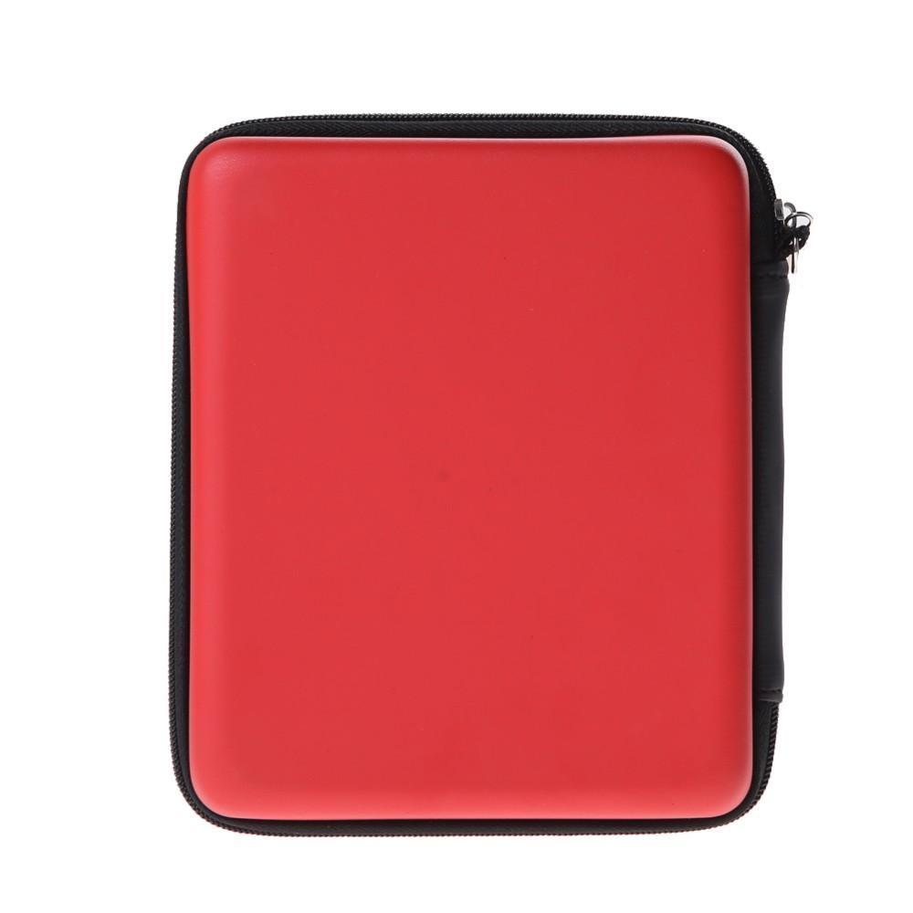 HDD Telefon USB Flash için Nintendo 2 DS Konsolu için Askı Yüksek Kaliteli Kırmızı Anti-Shock EVA Koruyucu Saklama Kutusu Kapak Çanta