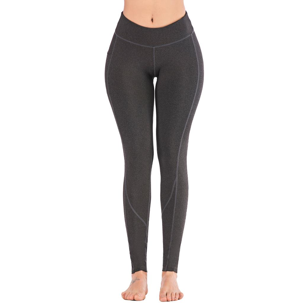 2019 Nuove donne Pantaloni da yoga Sport da corsa Abbigliamento sportivo Leggings elastici per fitness Calzamaglia a compressione per il controllo della pancia senza cuciture