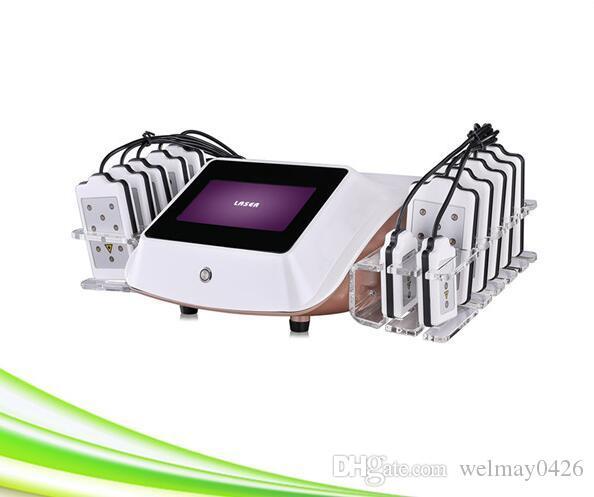14 almofadas mais recente Zerona laser frio lipo a laser máquina laser lipo emagrecimento corpo terapia cavitação