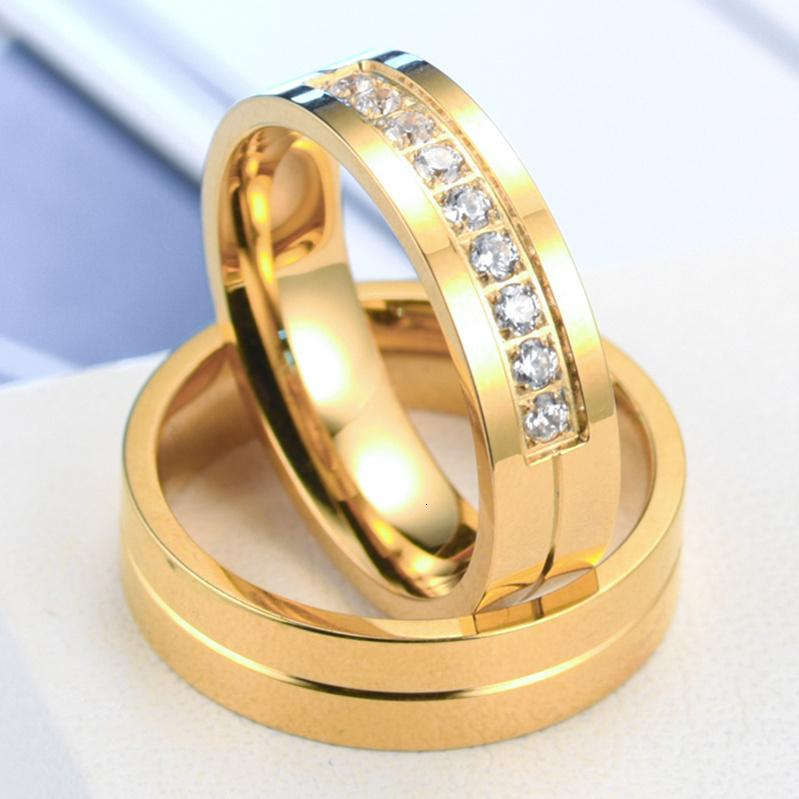6mm Titanium Steel Simple Couple Gold Ring With Cz Diamonds Wedding Ring For Couple Wedding Jewelry Ruby Rings From Jewelry Fa 0 79 Dhgate Com
