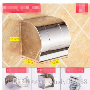 коробка Туалетная бумага из нержавеющей стали туалетная бумага коробка не перфорированные извлечение бумаги ванной держатель рулона бумаги коробка ткани водонепроницаемый туалет