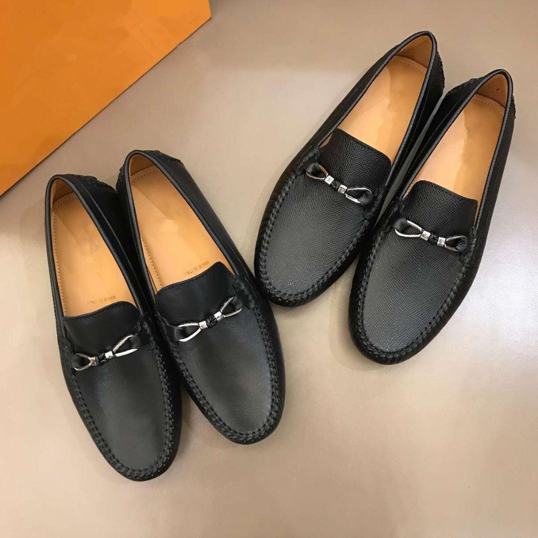 2019 pattini superiori casuali del mens scarpe di moda causale scarpe traspiranti genuino vestito di cuoio Il trasporto libero calza 38-45