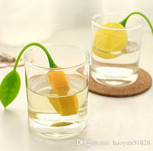 New silicon tea infuser Leaf Silicone Tea Infuser multi-colors Lovely Drinker Teapot Organge Shape Tea Strainer Filter Infuser Bag Lemon