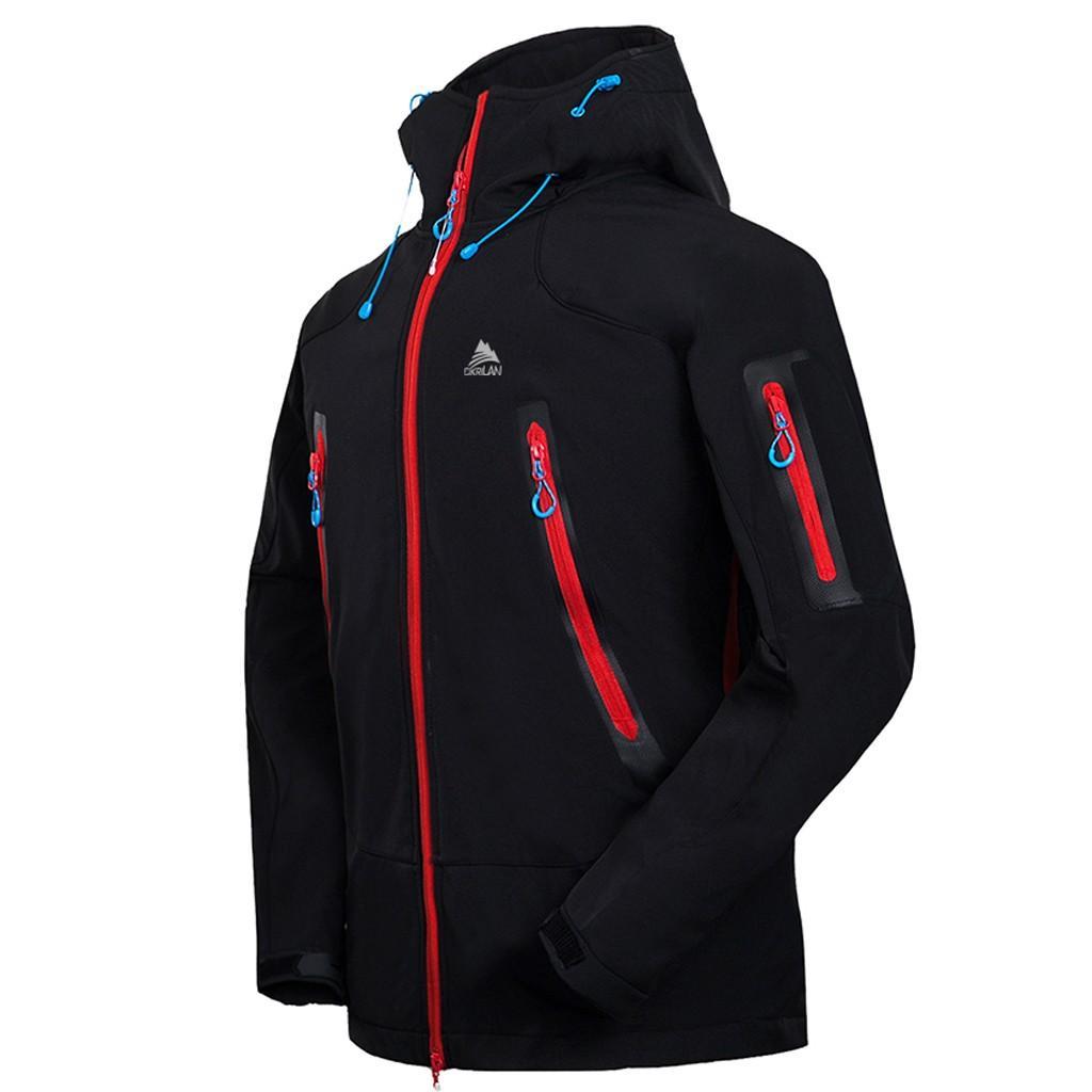 Sonbahar Kış Erkek Ceket Sıcak Parka Kapşonlu Coat 2019 Yeni Günlük Moda su geçirmez Hızlı kuruyan Nefes Sport Açık Coat