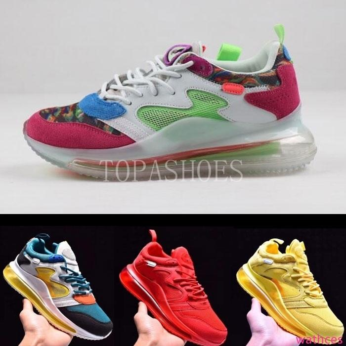 alta qualidade Reagir OBJ Utility Homens Mulheres Running Shoes preto triplo Núcleo Universidade Vermelho Branco Olive Volt Habanero Flair Sneakers 36-46
