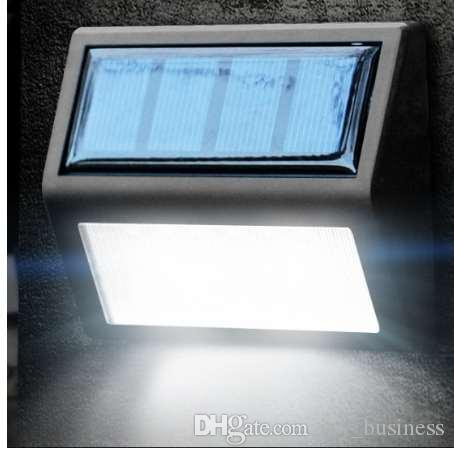 6 Lámpara solar LED Lámpara solar a prueba de agua Noche Luz Sensor de movimiento Porche Camino Valla de la calle Jardín Escaleras Corredor Aplique de emergencia