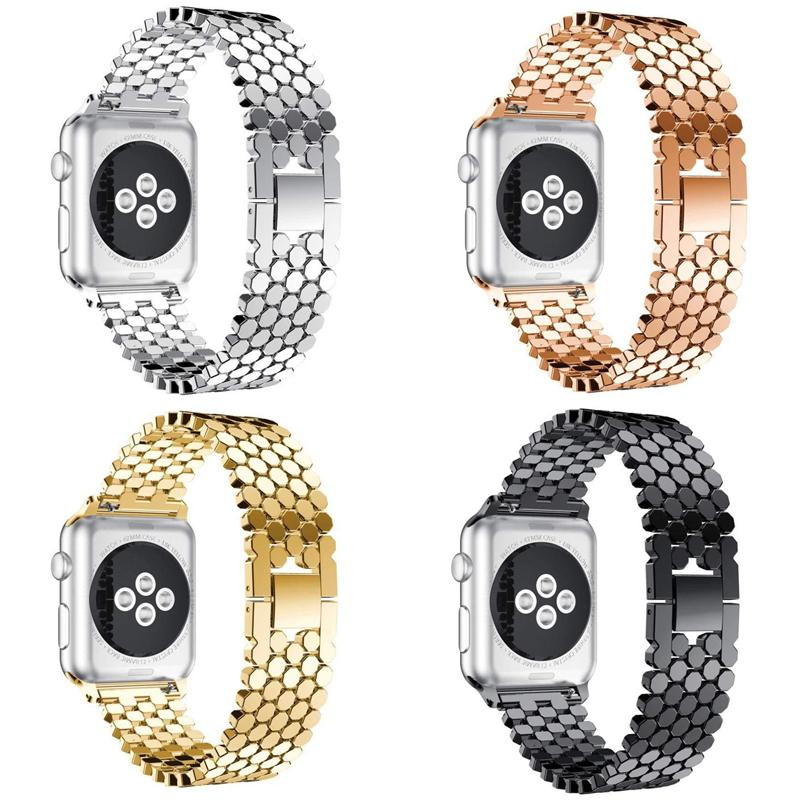 DIDI Strap para Apple Watch 4 44mm Banda de Aço Inoxidável para a Apple Watch Bandas 42mm 38mm 40mm Pulseira para iWatch Series 4 3 2 1
