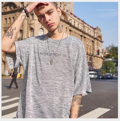 Tshurats Fashion Mens Tees Hip Hop Mens Designer Tshants عادي Street Style Letter Lose Sleed Crew Pullover Neck