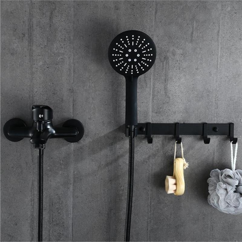 1set ванной ванной кран Одной ручкой холодной и теплой смесителя с ручным душем стены Mounted Смеситель для ванны ванна