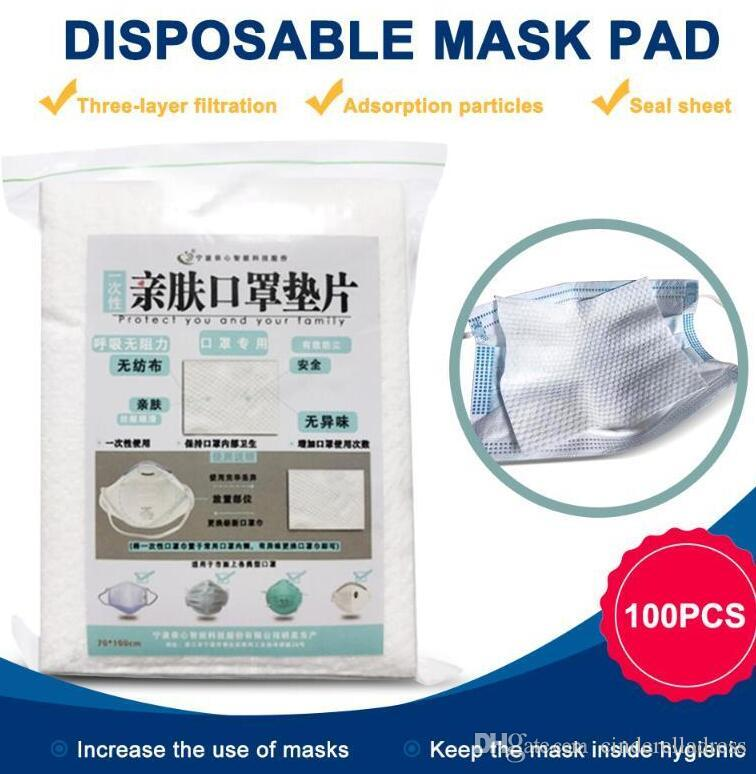 US Stock 100pcs/lot Disposable Face Masks Replacement Filtering Pad Breathable Mask Gasket Respiring Mat for all kinds of Masks