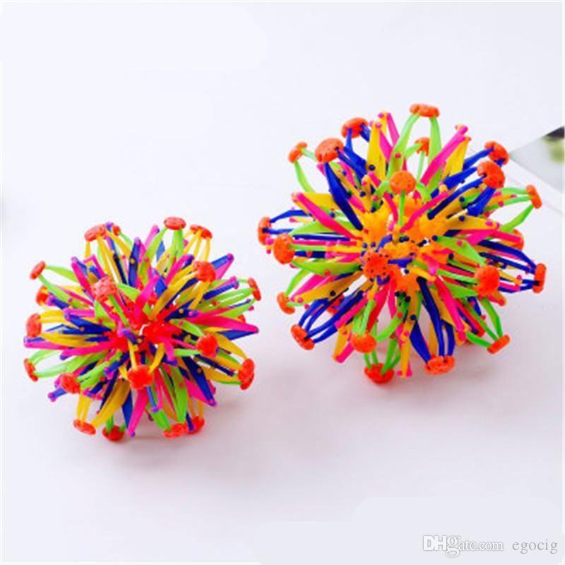 Magic Ball divertente giocattolo ragazzo telescopico Espansione Sfera Mini sfera Kids Toy dell'arcobaleno Colorful Flower Magic Ball trasporto libero