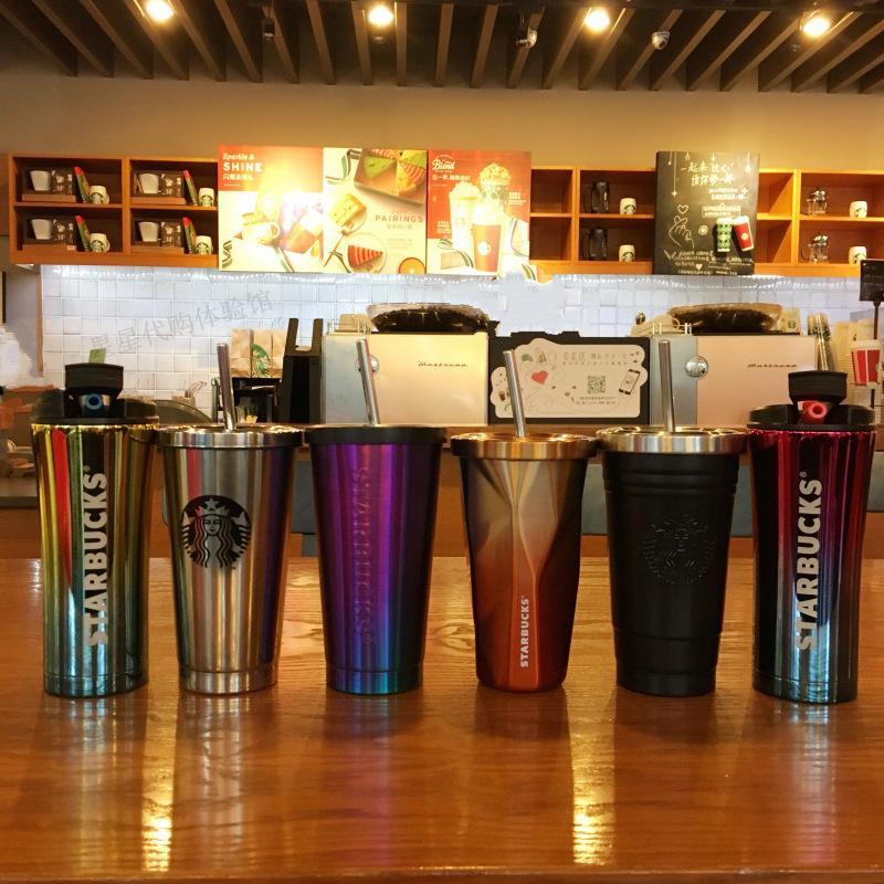 500ml Nouveau mode classique Starbucks 304 tasse de café diamant en acier inoxydable avec Coupe Starbucks dessus de table de voiture