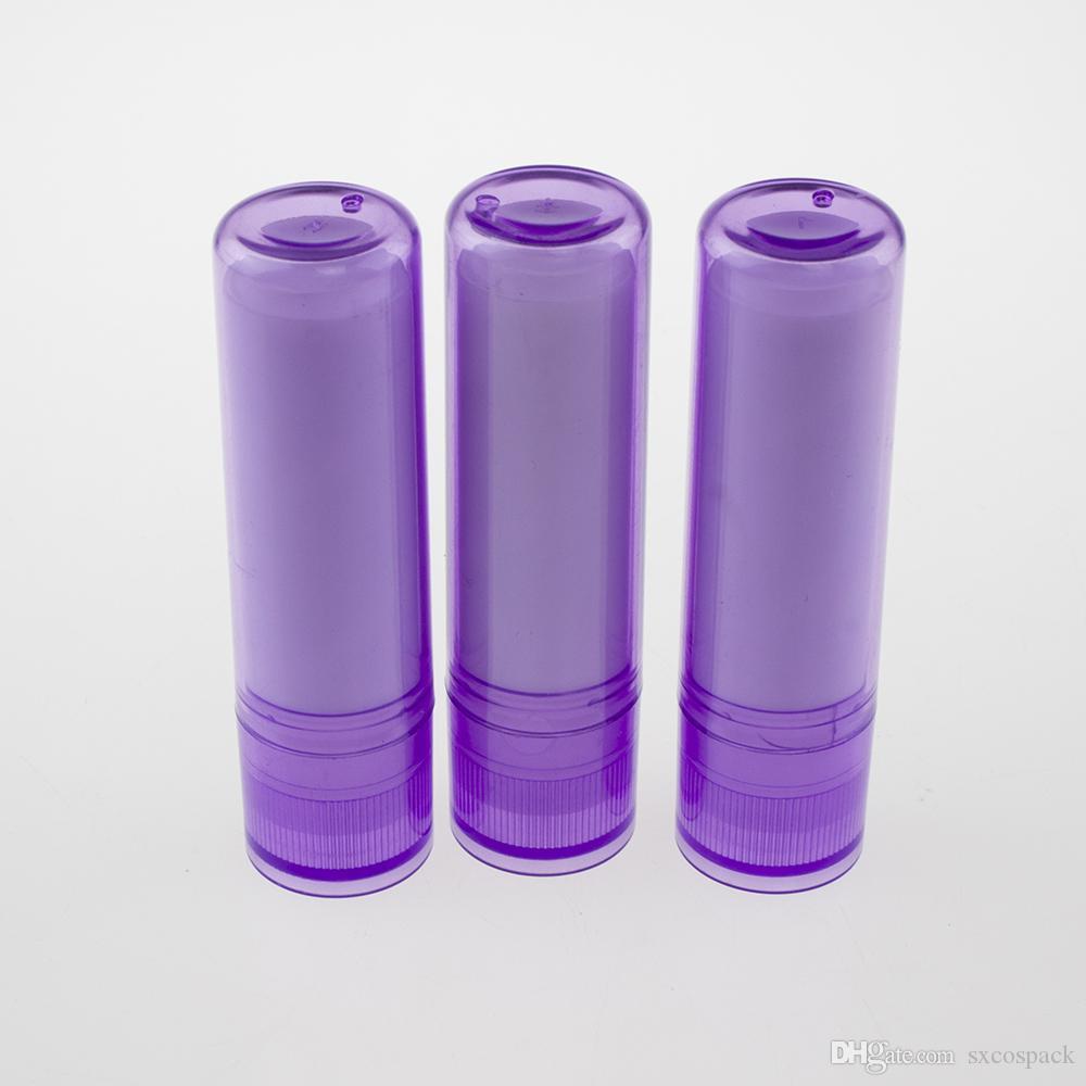 Toptan LB02-4.8g Mor Mini Kozmetik Konteyner Tüpler boşaltın, Dudak Çubuk Tüp Plastik Tüp boşaltın